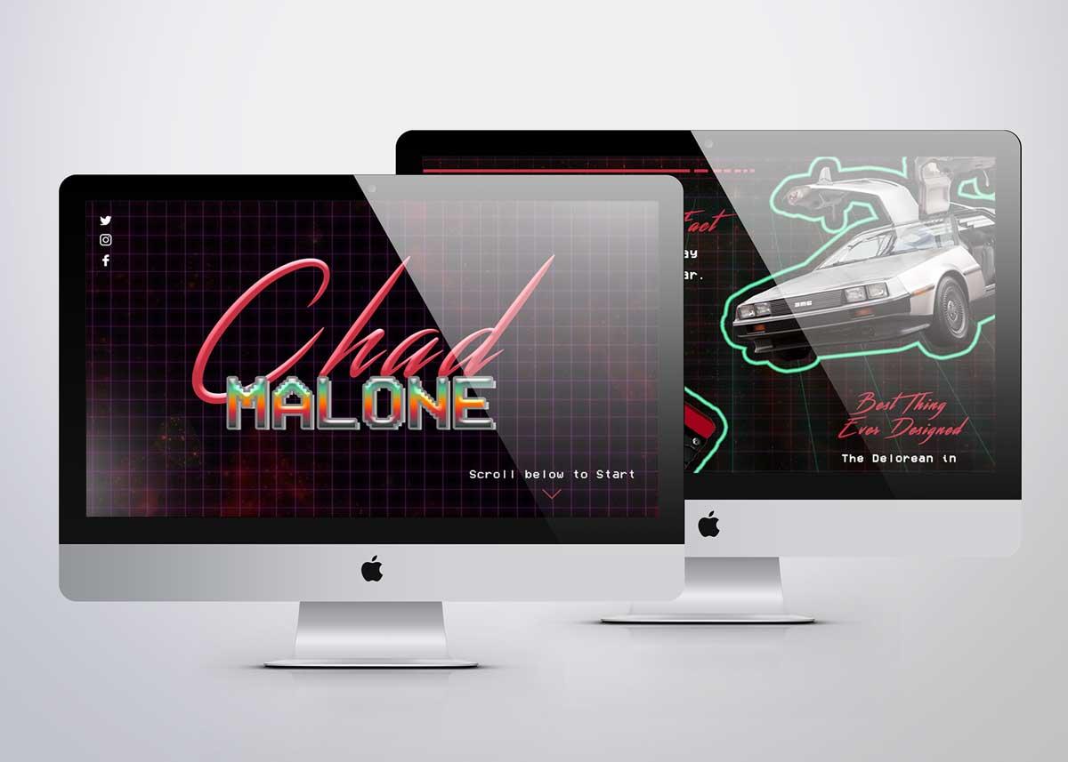 Profile website design for Chad Malone